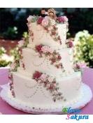 Свадебный торт Танго роз . Доставка по Киеву и Украине