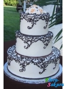 Свадебный торт Ажурный . Доставка по Киеву и Украине
