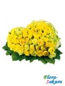 Сердце жёлтых роз . Доставка по Киеву и Украине