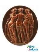 Шоколадный сувенир Три Грации бронза . Доставка по Киеву и Украине