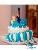Свадебный торт 11 . Доставка по Киеву и Украине