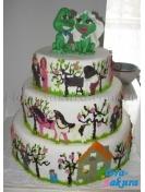 Свадебный торт 14 . Доставка по Киеву и Украине
