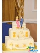 Свадебный торт 21 . Доставка по Киеву и Украине