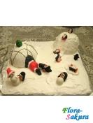 Торт Пингвины и Дед Мороз . Доставка по Киеву и Украине