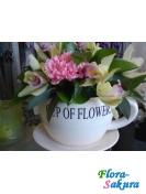 Цветы в чаше Фисташка . Доставка по Киеву и Украине