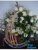 Цветочно-фруктовая корзина Марсель . Доставка по Киеву и Украине