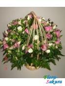 Корзина с цветами Розалина . Доставка по Киеву и Украине