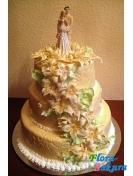 Свадебный торт Симфония любви . Доставка по Киеву и Украине