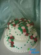 Свадебный торт Россыпь роз . Доставка по Киеву и Украине