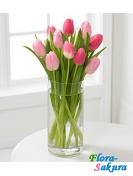 9 тюльпанов - Хорошего дня! . Доставка по Киеву и Украине