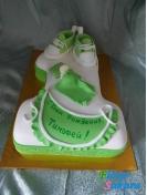 Детский торт на 1 годик зеленый . Доставка по Киеву и Украине