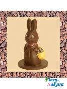 Шоколадная зайчиха с корзиной . Доставка по Киеву и Украине