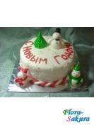 Торт на заказ Снеговики . Доставка по Киеву и Украине