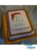 Корпоративный торт ReNew . Доставка по Киеву и Украине