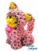 Котенок из цветов . Доставка по Киеву и Украине