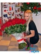 Букет из 101 розы . Доставка по Киеву и Украине