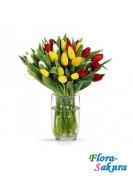 Букет тюльпанов Радуга . Доставка по Киеву и Украине