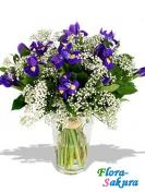 Букет цветов Синее море . Доставка по Киеву и Украине
