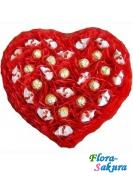 Букет из конфет Сердце Амура . Доставка по Киеву и Украине