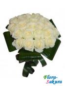 Букет роз Белая метель . Доставка по Киеву и Украине