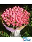 Букет розовых роз Бьюти . Доставка по Киеву и Украине