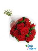 Букет красных роз Виктория . Доставка по Киеву и Украине