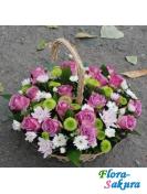 Корзина цветов Бриз . Доставка по Киеву и Украине