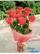 11 красных роз . Доставка по Киеву и Украине