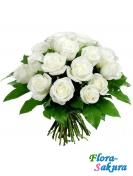 Букет из 15 белых роз . Доставка по Киеву и Украине