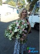 Букет цветов Шкала щедрости . Доставка по Киеву и Украине