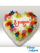 Торт на 8 марта-3 . Доставка по Киеву и Украине