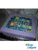 Фото-торт Happy Birthday! . Доставка по Киеву и Украине