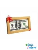 Шоколадная открытка Сто долларов . Доставка по Киеву и Украине