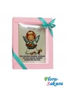 Шоколадная открытка Ангел . Доставка по Киеву и Украине