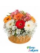 Корзина цветов Радостный день . Доставка по Киеву и Украине