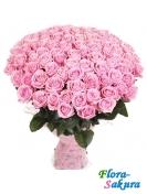 Букет из 101 розовой розы . Доставка по Киеву и Украине