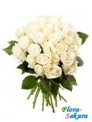 Букет белых роз Романс . Доставка по Киеву и Украине