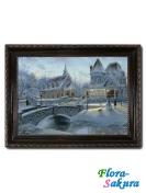 Шоколадная картина Ледяной замок . Доставка по Киеву и Украине