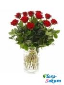 Букет роз Красная заря . Доставка по Киеву и Украине