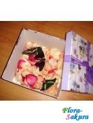 Лепестки роз + 3 бабочки . Доставка по Киеву и Украине