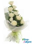 Букет белых роз Идиллия . Доставка по Киеву и Украине