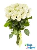 21 белая роза Эвеланч . Доставка по Киеву и Украине