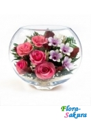 Композиция роз и орхидей ЕSM-04 . Доставка по Киеву и Украине