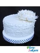 Торт на свадьбу Белый пион . Доставка по Киеву и Украине