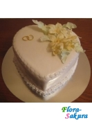 Торт на свадьбу Кремовая лилия . Доставка по Киеву и Украине