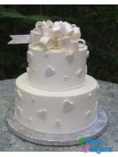 Торт на свадьбу Белое сердце . Доставка по Киеву и Украине