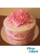 Торт на свадьбу Розовые розы . Доставка по Киеву и Украине