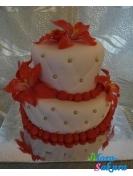 Торт на свадьбу Красная лилия . Доставка по Киеву и Украине