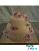 Торт на свадьбу Фиолетовая орхидея . Доставка по Киеву и Украине