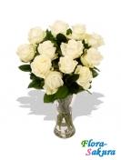 11 белых роз . Доставка по Киеву и Украине